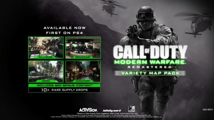 Call of Duty Modern Warfare Remastered : Variety Map Pack – Διαθέσιμο στο PS4