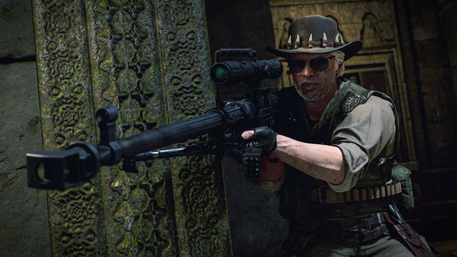 A Call of Duty: Black Ops Cold War player aims a sniper rifle