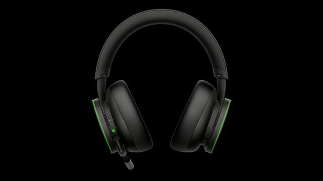 The front view of the Xbox Wireless Headset.