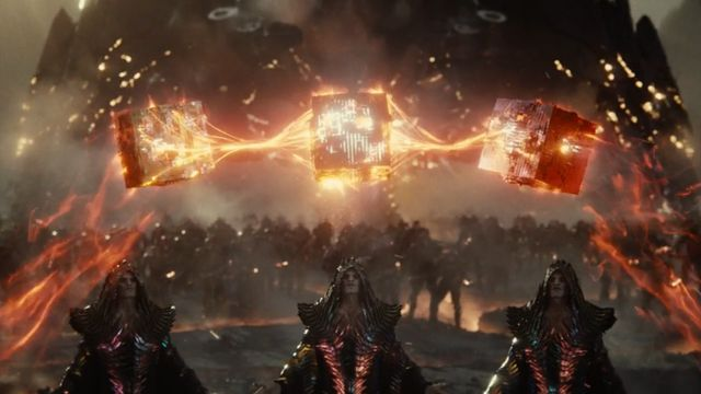 The creation of the Mother Boxes in Zack Snyder's Justice League