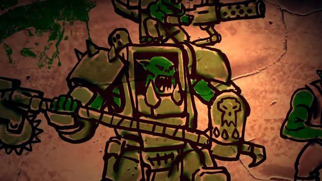 A still frame from a teaser video showing an Irk in a mech.
