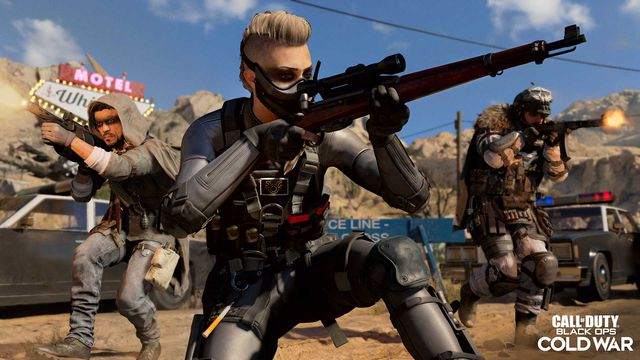 Wraith the new Call of Duty: Black Ops Cold War and Warzone operator for season 3 aims a sniper