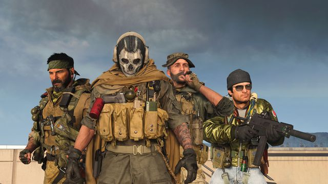 Frank Woods, Ghost, Price, andAdler as they appear in Call of Duty Warzone