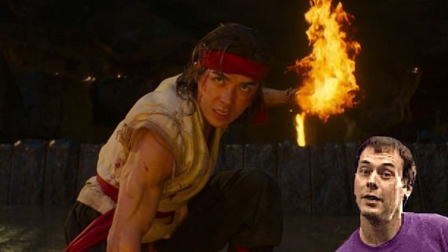 Liu Kang from Mortal Kombat 2021 lights up a fireball while Toasty guy pops in