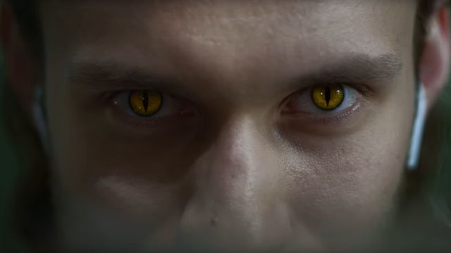 A player with the Witcher's mutant, cat-like eyes in the real world.
