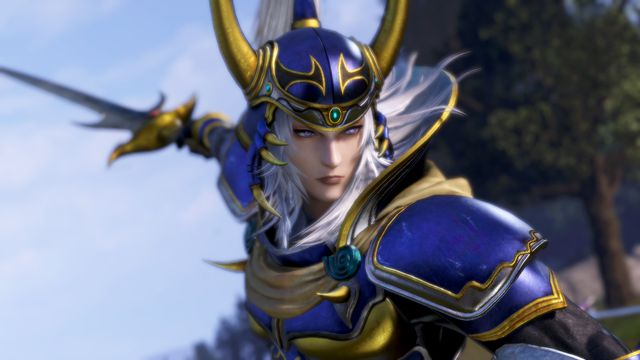 The Warrior of Light in Dissidia Final Fantasy NT