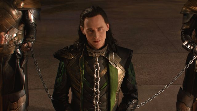 Loki in handcuffs in Thor movies