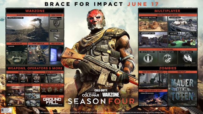 Call of duty black ops cold war warzone season four roadmap