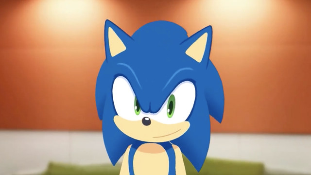 it's a 3D animated sonic model