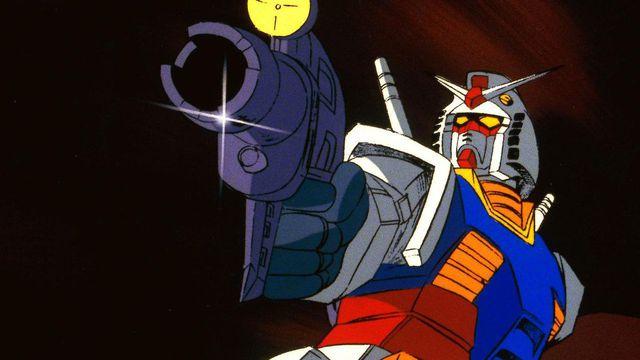 A Gundam holding a gun, damn!