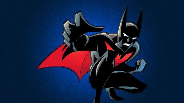 Cartoon Batman on dark blue background
