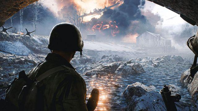 Soldiers look at the battlefield in Battlefield Portal