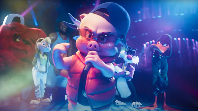 Porky Pig rapping in Space Jam: A New Legacy