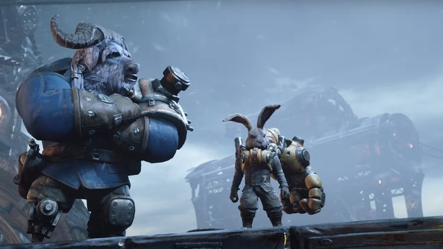 Rayton from F.I.S.T.: Forged in Shadow Torch stands on an icy ridge