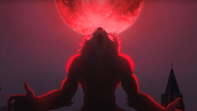 A werewolf from Netlfix's The Witcher: Nightmare of the Wolf animated movie