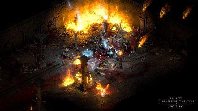 A group of players battle Andariel in Diablo 2: Resurrected