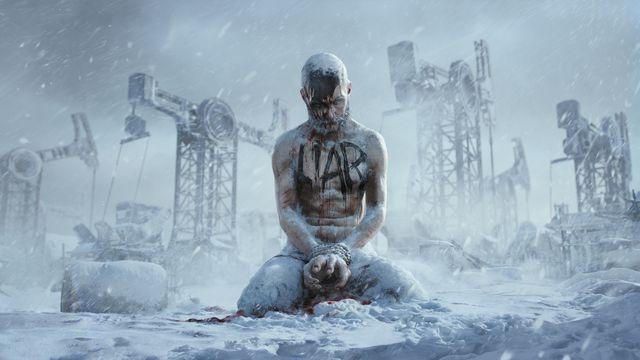 """Frostpunk 2 """"Liar"""" frozen man in the snow"""