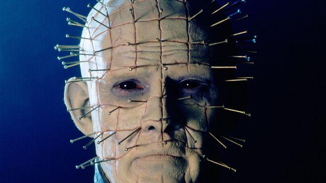 Doug Bradley as Pinhead, leader of the Cenobites, in a publicity still for the film Hellraiser