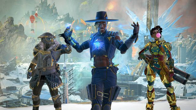 Seer and two other Apex Legends characters in the new season 10: Emergence battle pass skins