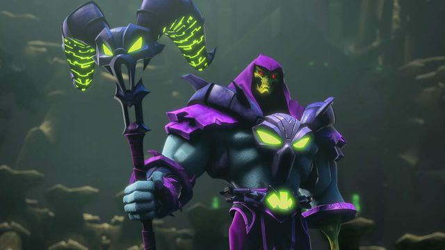 He-Man and the Masters of the Universe - Skeletor poses ominously with his skull staff