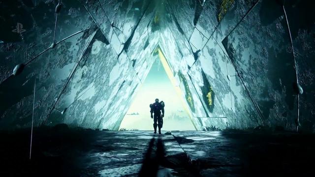 Destiny 2: Curse of Osiris - Titan entering triangular passage