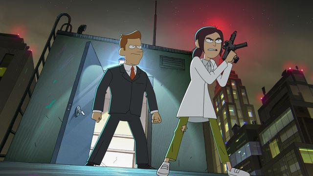 reagan and brett storming a rooftop