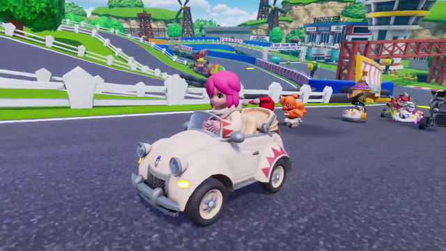 a white 1950s-style car in Chocobo GP