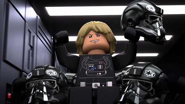 Luke Skywalker but evil in Empire uniform in LEGO Star Wars Terrifying Tales