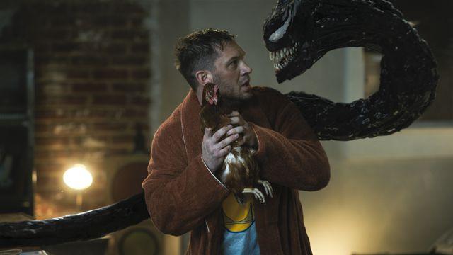 Venom slithers out of Eddie's backside